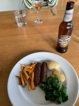 Sausages, parsnips and veg